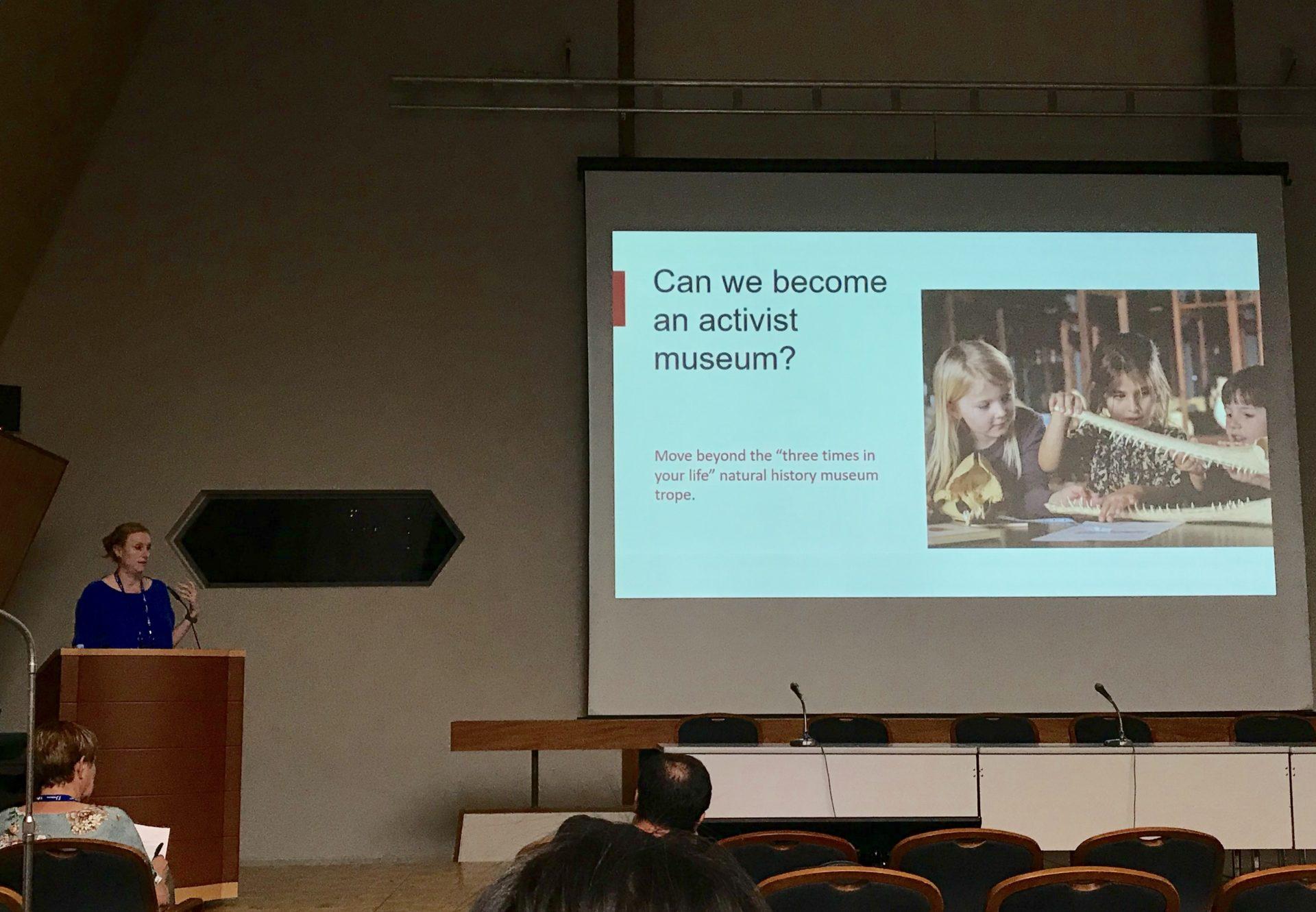 丹麥自然史博物館副館長Juliette Fritsch提出「行動派博物館」的反思(謝文馨攝影)