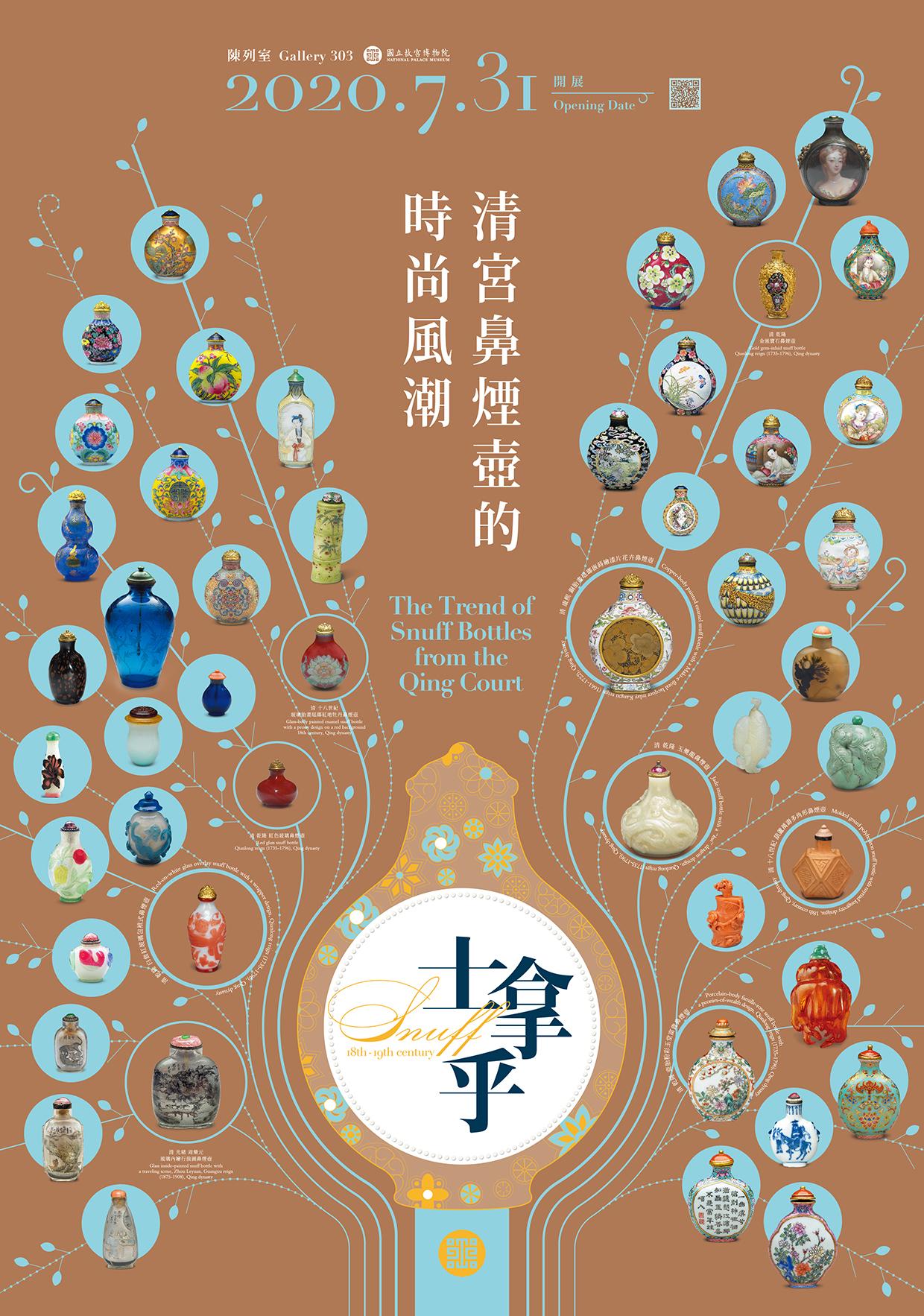 國立故宮博物院:2020/07/31起【士拿乎—清宮鼻煙壺的時尚風潮】