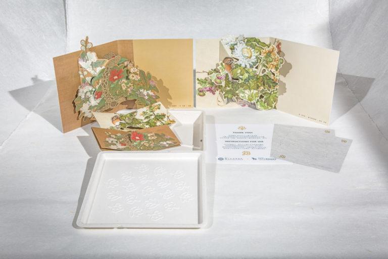 故宮花卉立體卡片 (圖片提供/ 半隻羊立體書工作室)