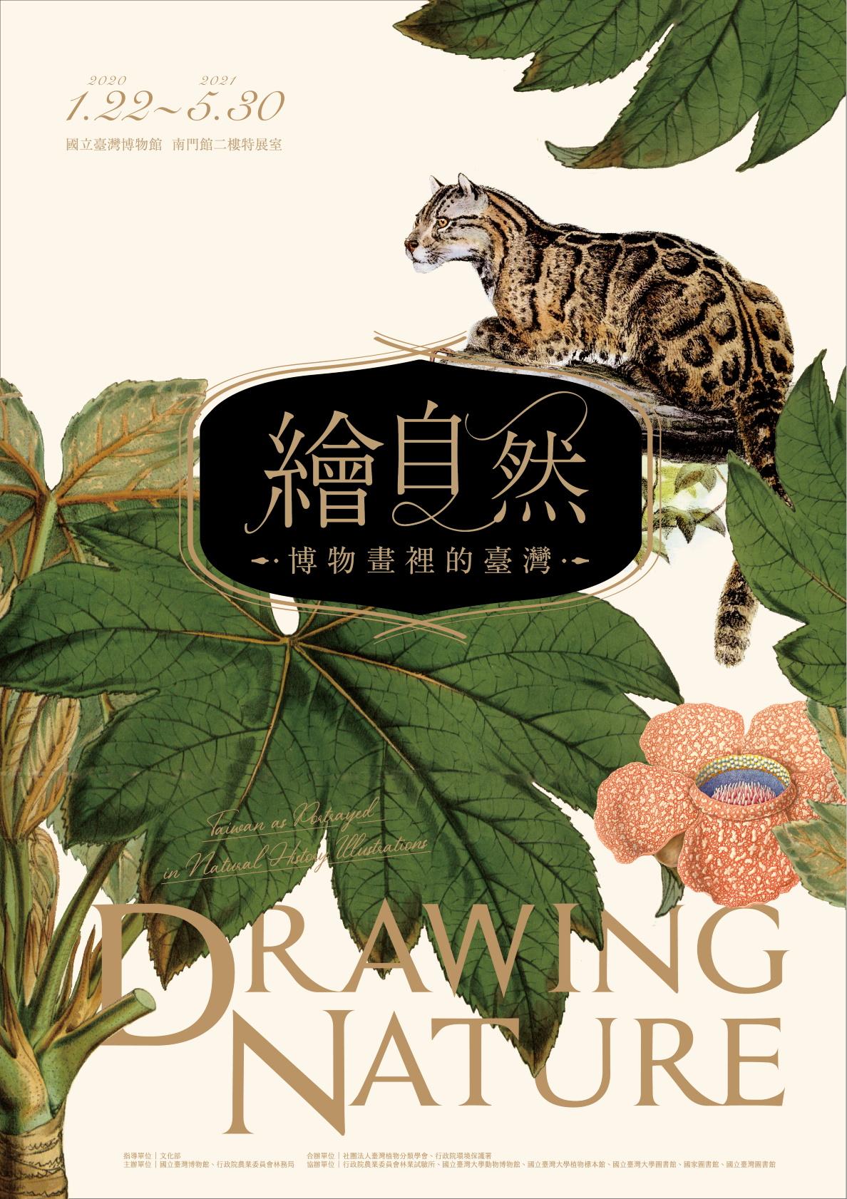 國立臺灣博物館:即日起至2021/5/30【繪自然-博物畫裡的臺灣特展】