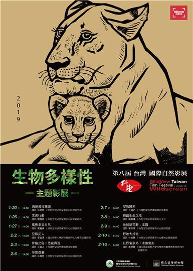 國立臺灣博物館:2019/2/2-3、6-10、16 【2019生物多樣性主題影展】
