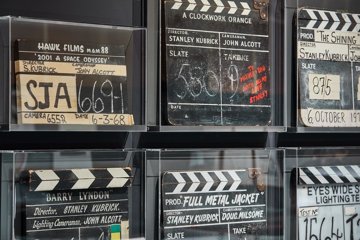 庫柏力克展覽將所有拍攝電影時的場記版展出。Image courtesy of the Design Museum, London.