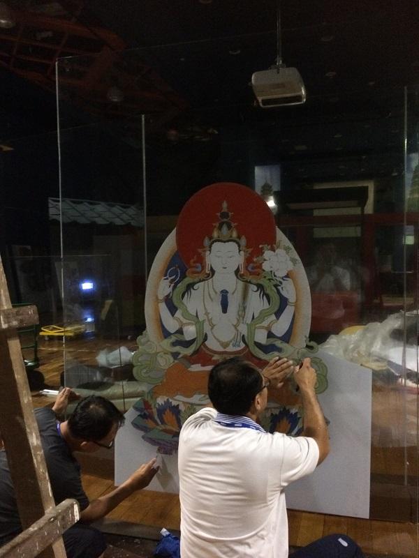 104西藏唐卡特展隔間,透過設計,重複使用歷次特展保留之材料製成。