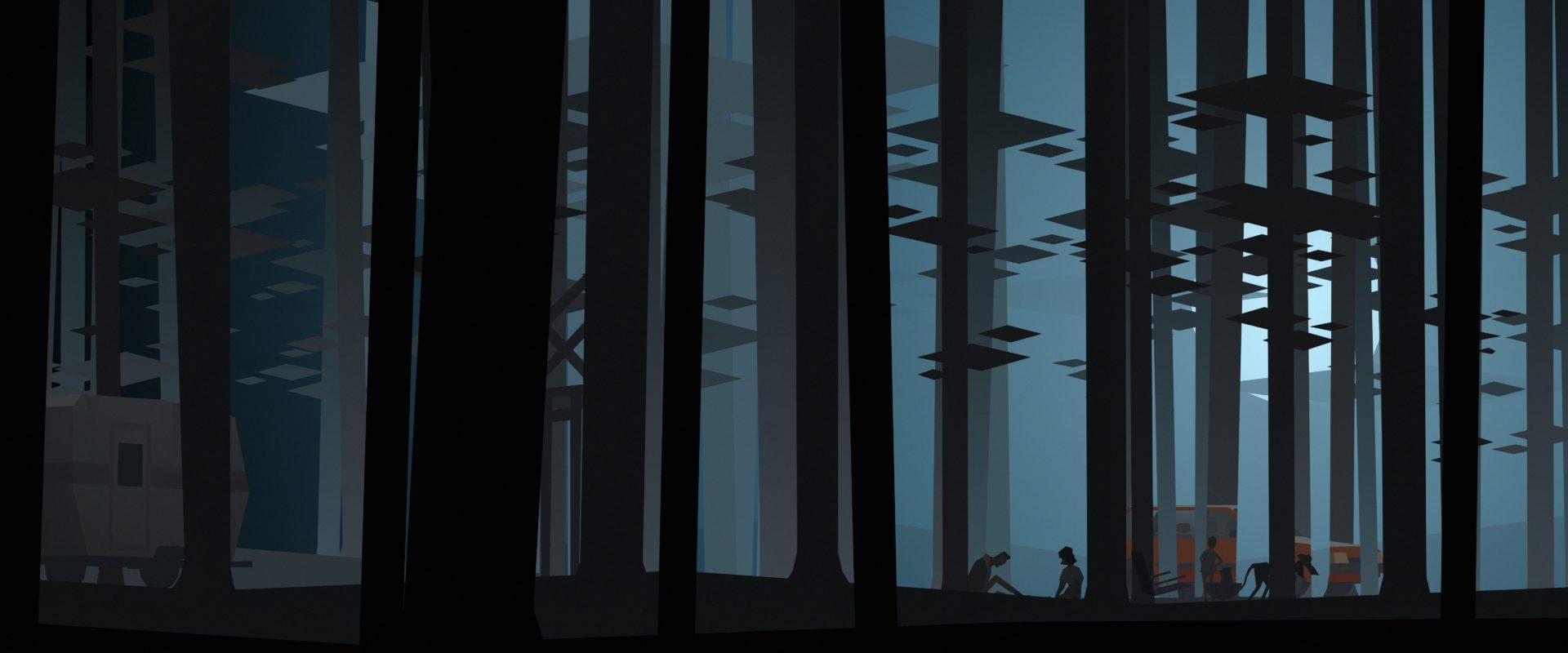 冒險遊戲《肯塔基州零號線》中的森林場景參考超現實主義藝術家馬格利特(René Magritte)畫作《空白簽名》,呈現濃厚的魔幻寫實風格。