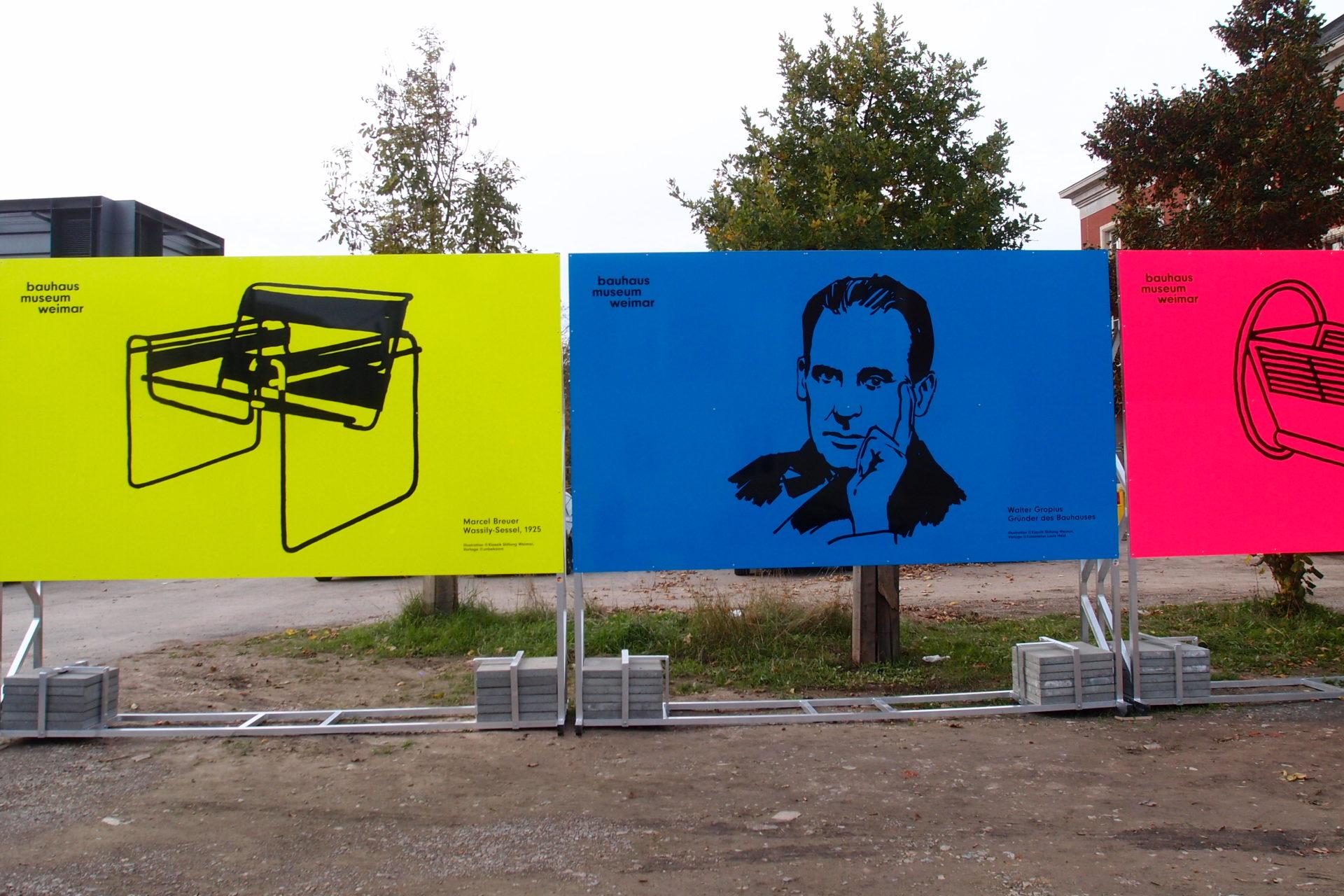 威瑪包浩斯博物館工地圍欄