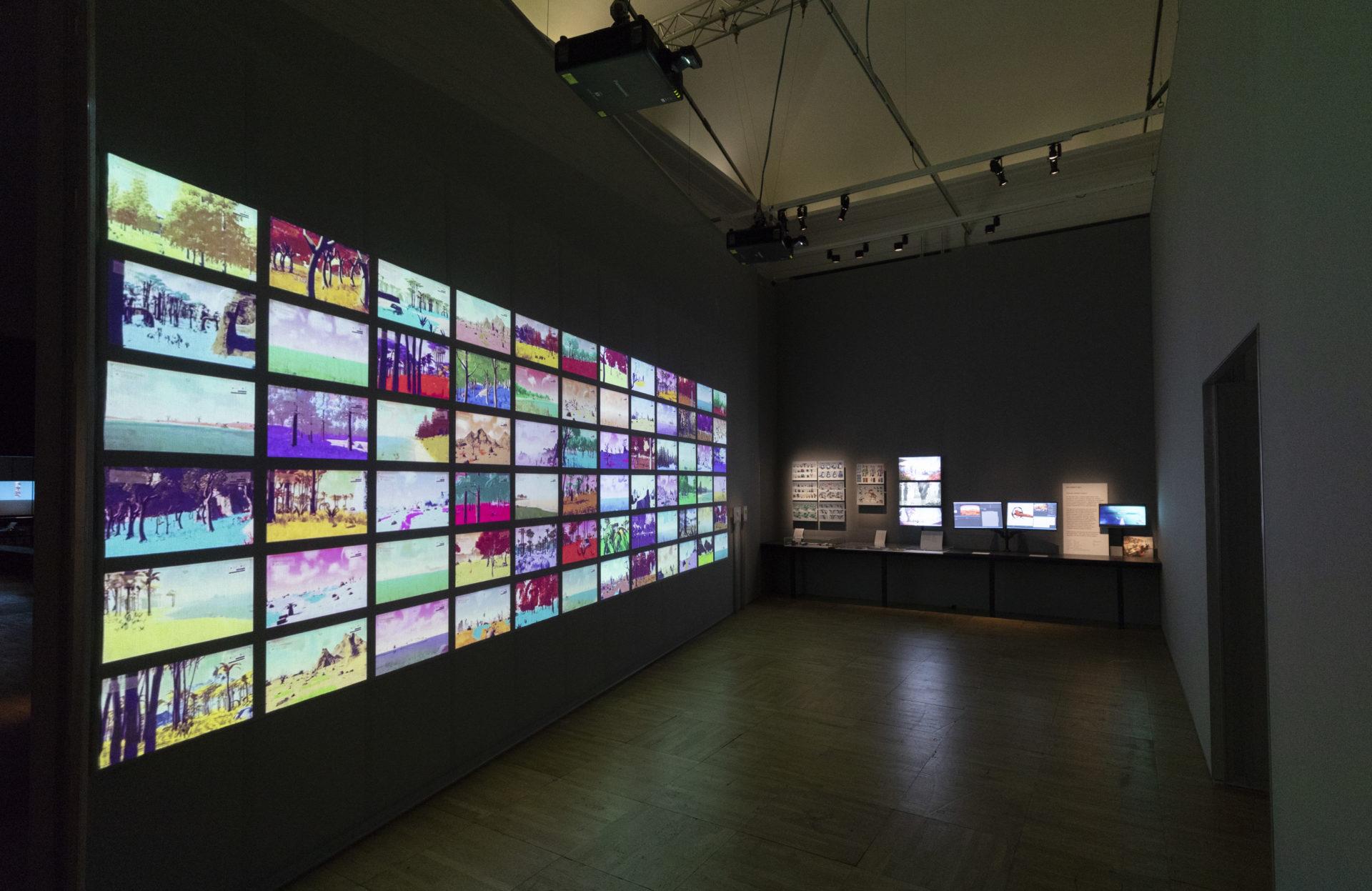 「電子遊戲:設計/遊戲/干擾」於倫敦V&A博物館展覽現場。