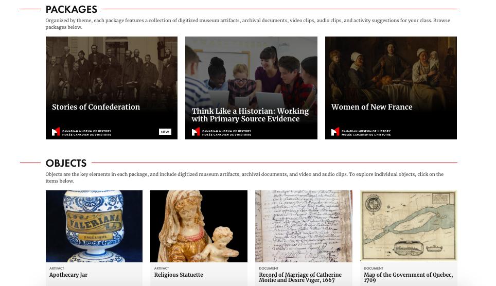 【博物之島新訊】課堂外的歷史課—加拿大歷史博物館推出線上學習平台